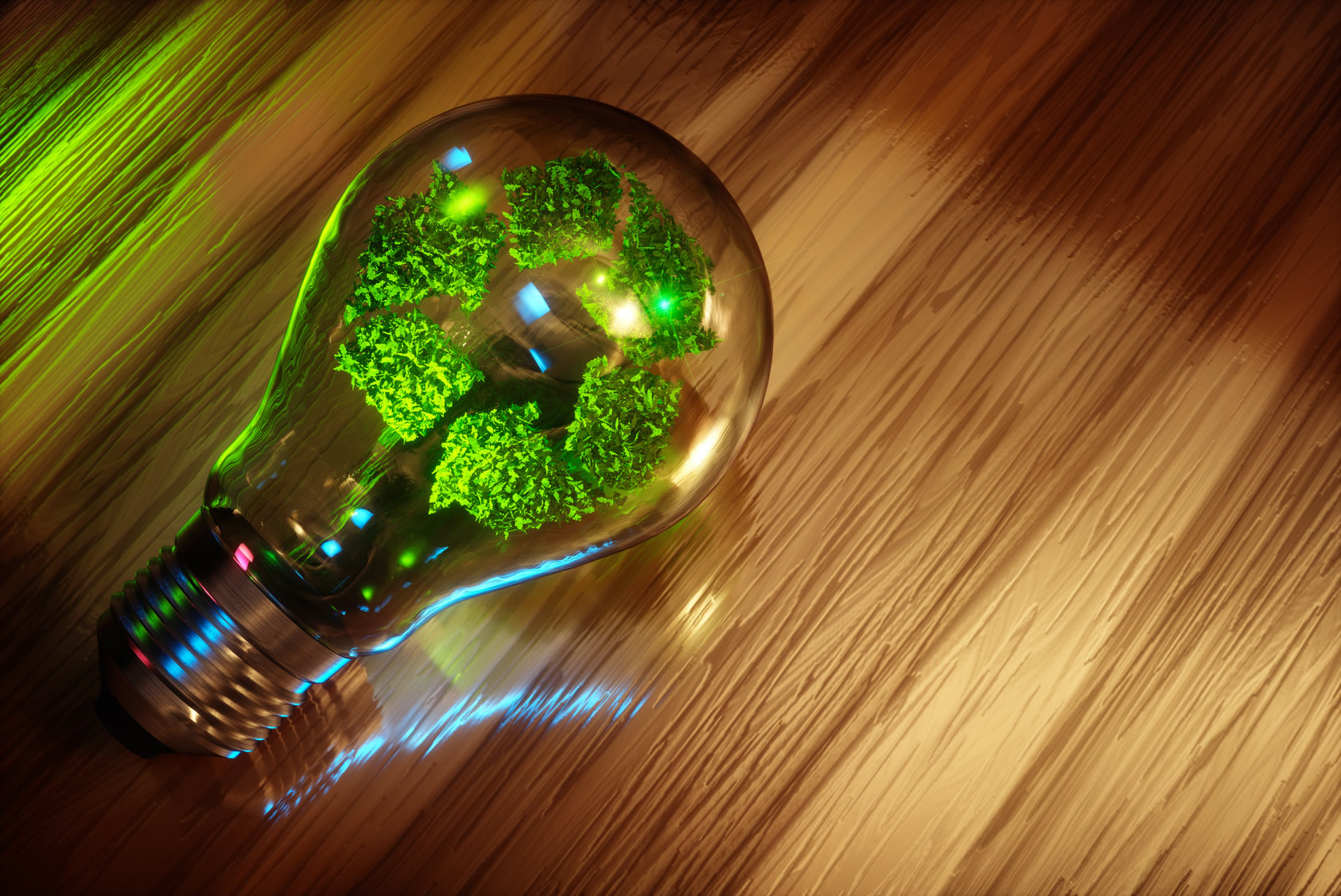Recycling light bulb concept